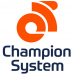 Champion System Logo Orange and Blue